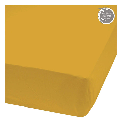 Bamboo fitted sheet - Golden Yellow