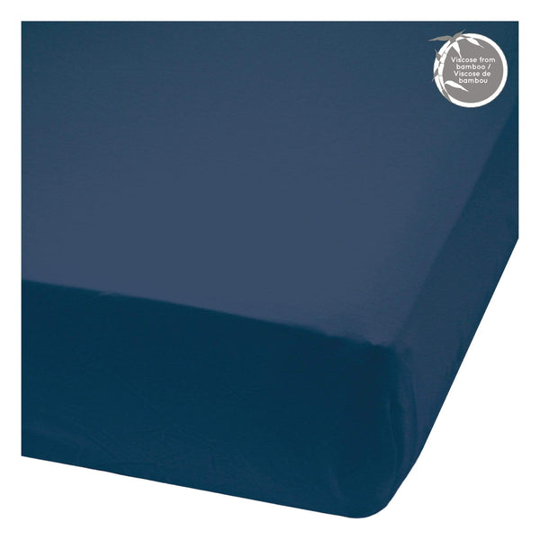 Bamboo fitted sheet - Navy Blue