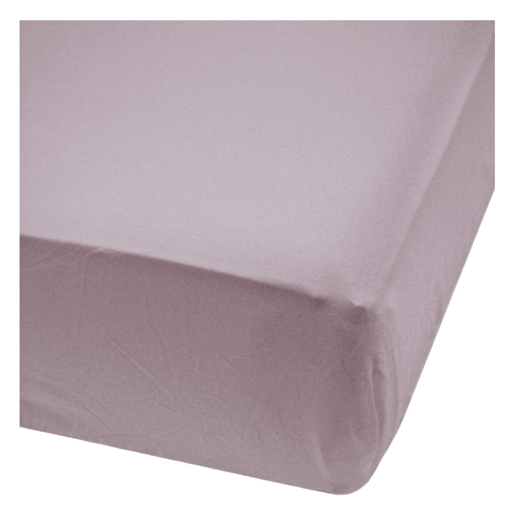 Bamboo fitted sheet - Plum
