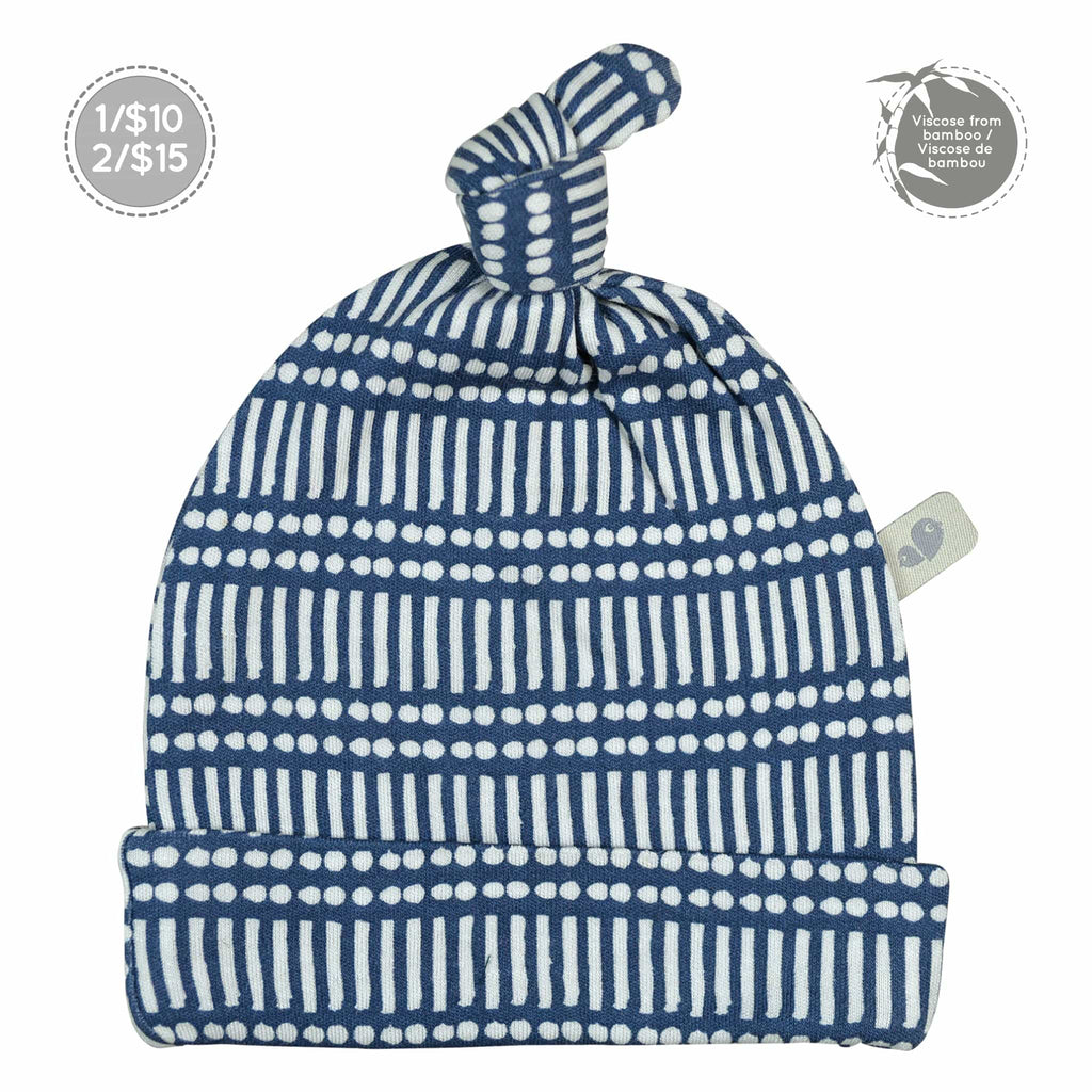 Bamboo knotted hat - Navy Sticks