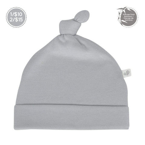 Bamboo knotted hat - souris (gray)