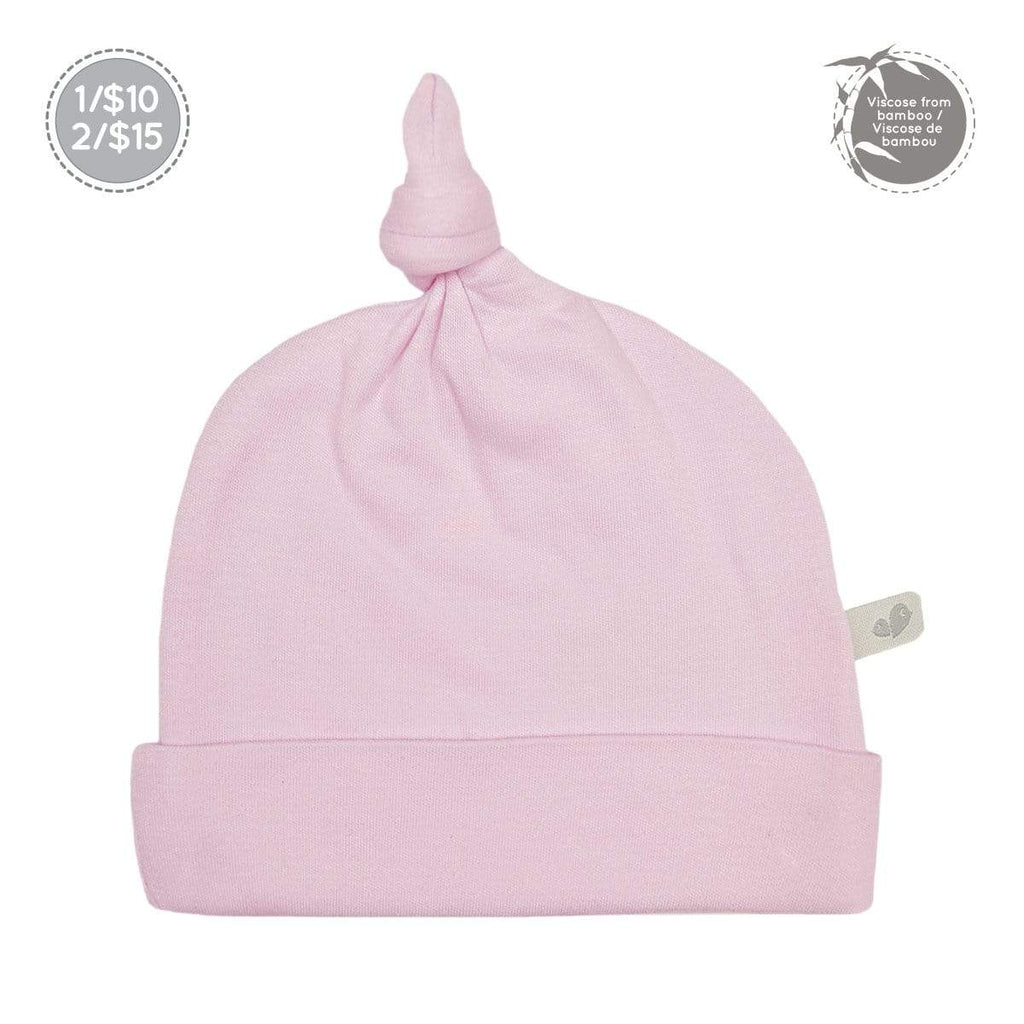 Bamboo knotted hat - light pink