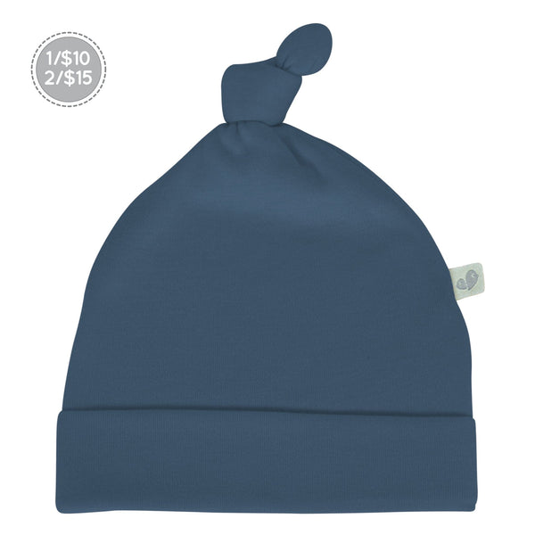 Bamboo knotted hat - Navy