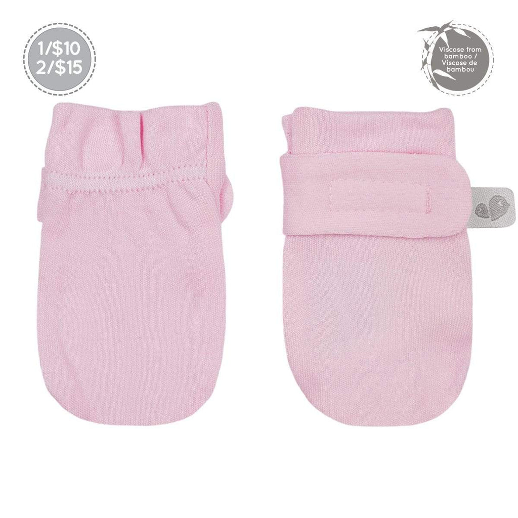 Bamboo scratch mitts - light pink
