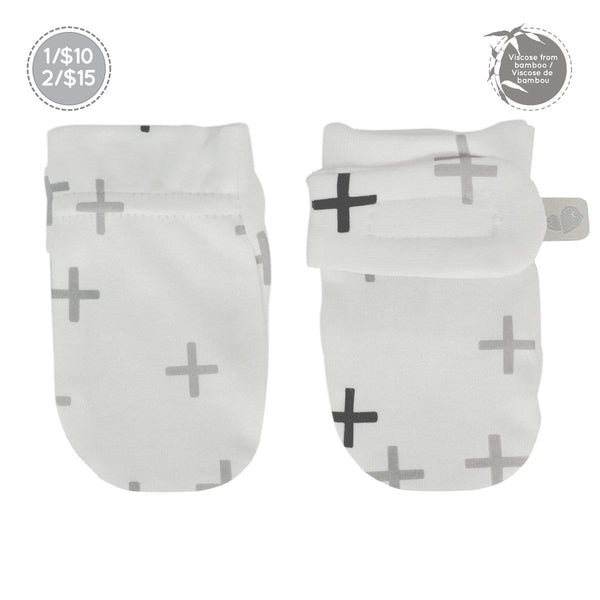Bamboo scratch mitts - plus print