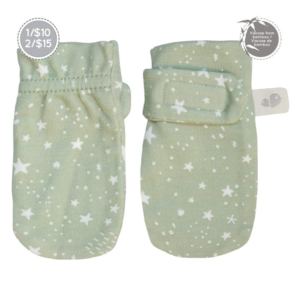 Bamboo scratch mitts - stars