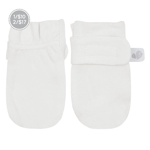 Bamboo scratch mitts - ivory