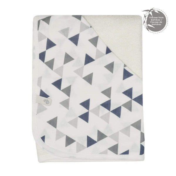 Bamboo hooded towel - triangle print