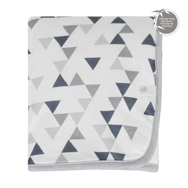 Bamboo blanket -   triangles print