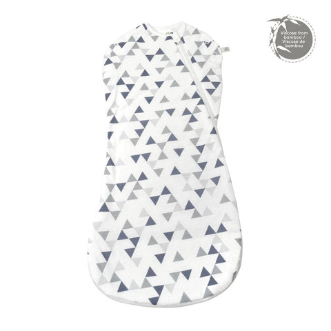 Bamboo newborn sleep bag - triangle print