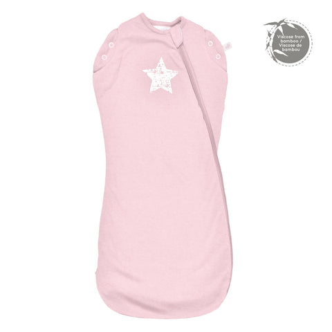 Bamboo newborn sleep bag - pink