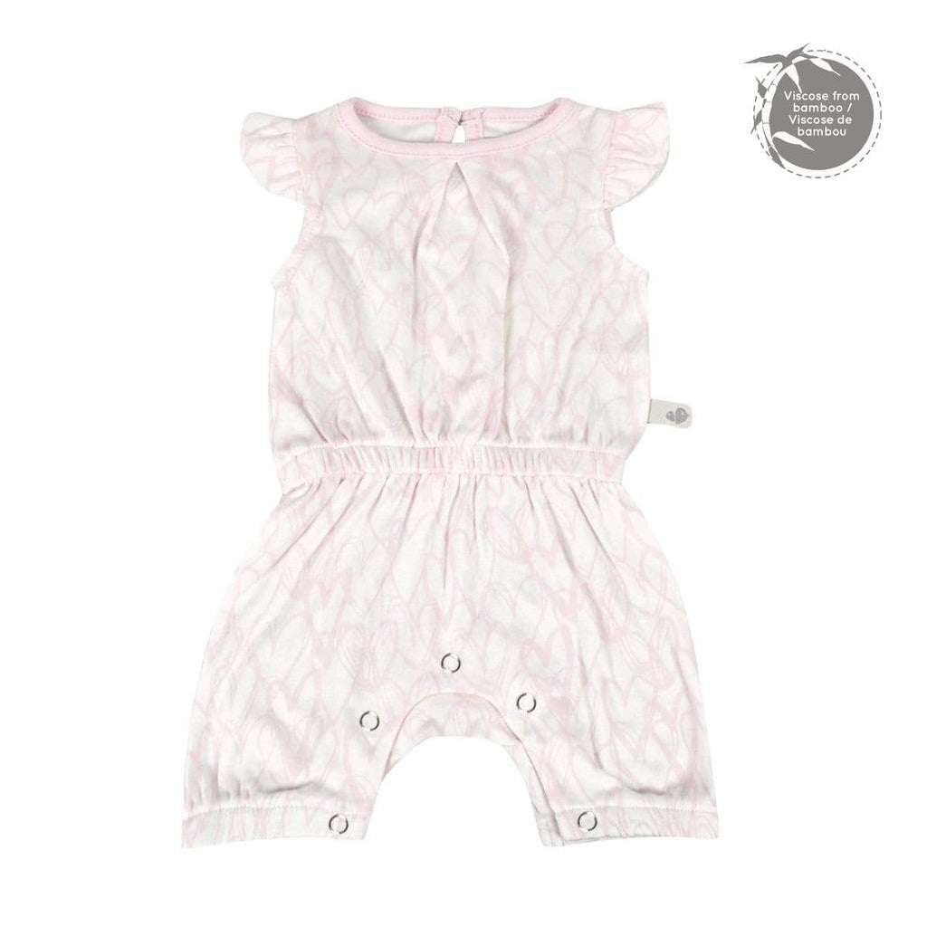 Bamboo girl romper - heart