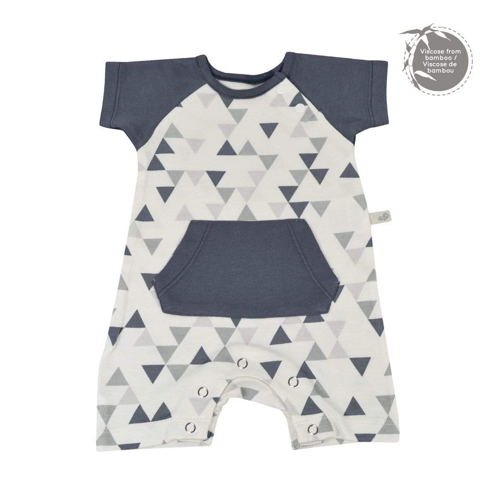 Bamboo boy romper - triangle