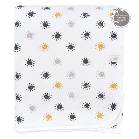 Bamboo quilted blanket - Suns