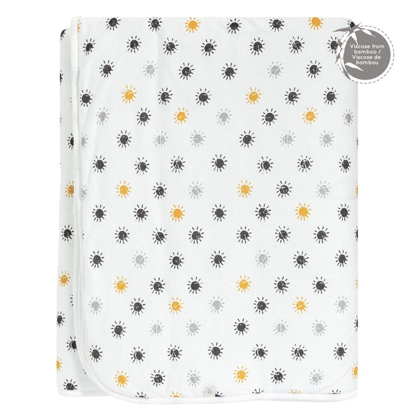 Extra-large bamboo quilted blanket - suns