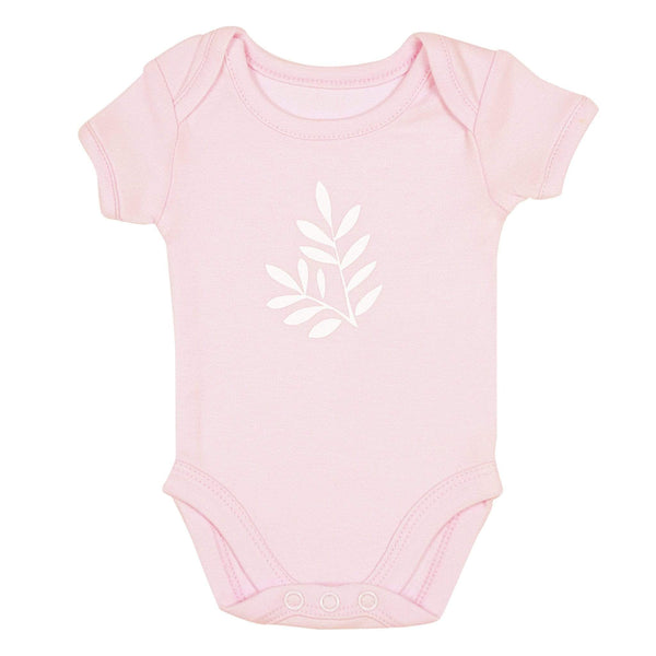 Bamboo solid short sleeve onesie - Light Pink