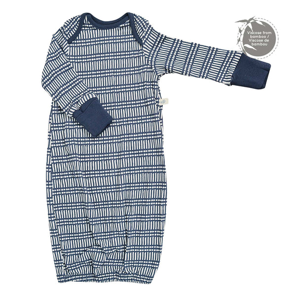 Bamboo nightgown - Navy Sticks