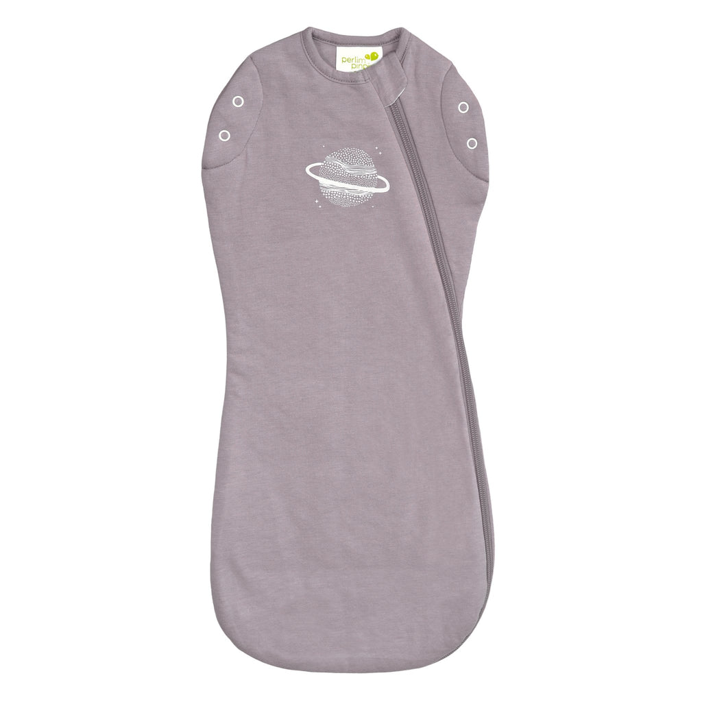 Bamboo newborn sleep bag - plum