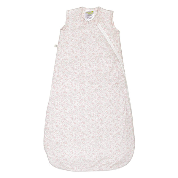 Quilted bamboo sleep bag - flowers (1 tog)
