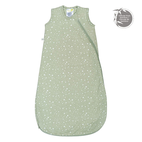 Quilted bamboo sleep bag - stars (1 tog)