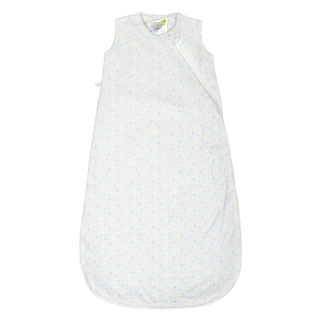 Quilted bamboo sleep bag - xhearts (1 tog)