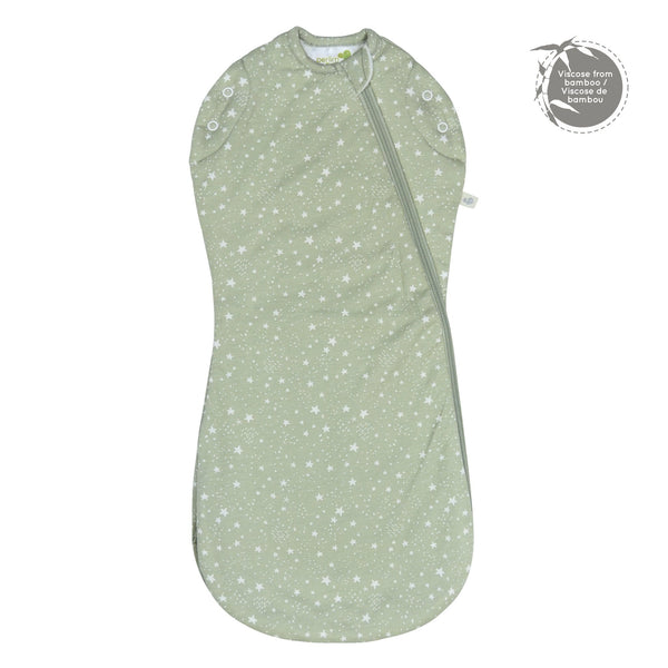 Bamboo newborn sleep bag - stars
