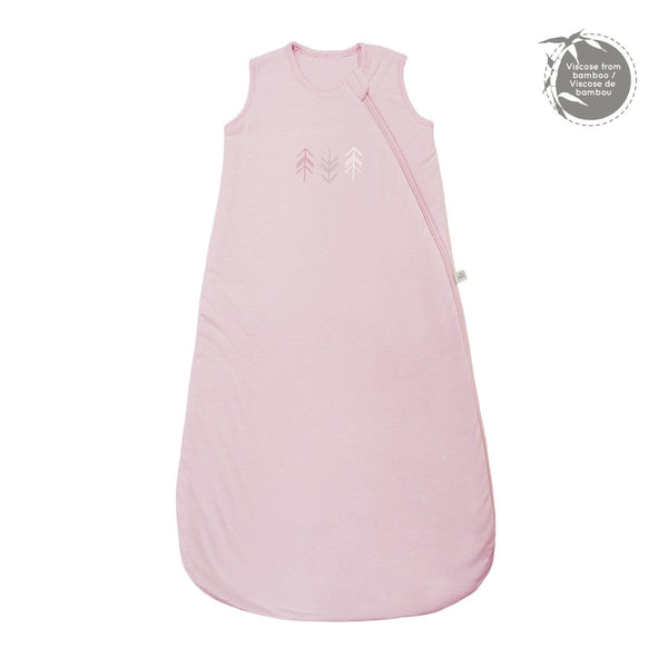 Quilted bamboo sleep bag - Light pink (1 tog)