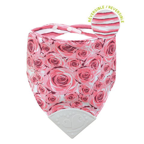 Teething bib - Roses