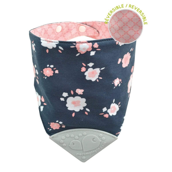 Teething bib - flowers