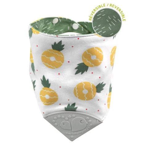 Teething bib - pineapples