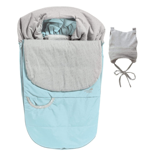 Mid-season car seat cover - baby blue