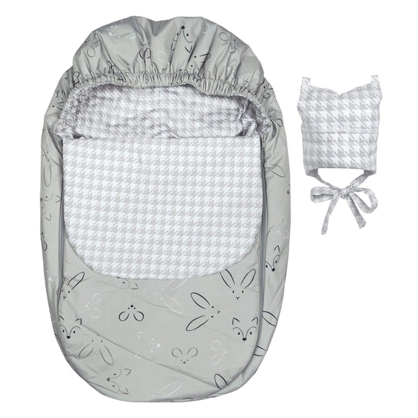 Mid-season car seat cover - Gray Animals