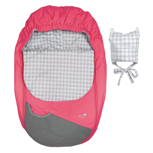 Mid-season car seat cover - Camellia