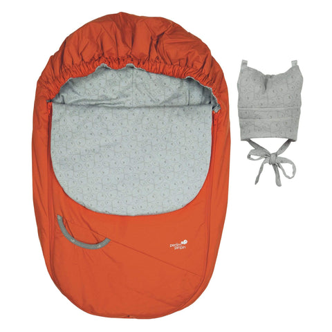 Mid-season car seat cover - Bright orange
