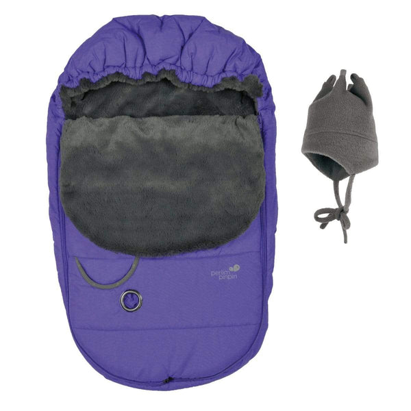 Baby car seat cover Winter - violet