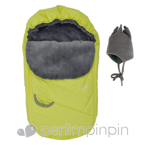 Baby car seat cover Winter - limelight