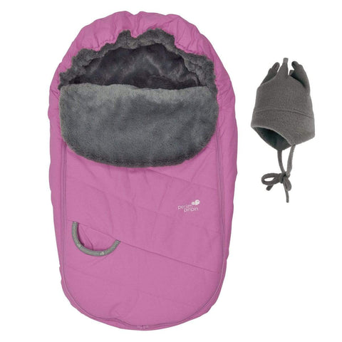 Baby Winter car seat cover  - pink