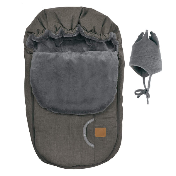 Baby car seat cover for Winter - Coal