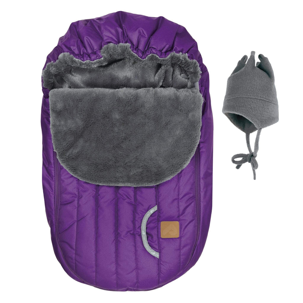 Baby car seat cover for Winter - Electric purple