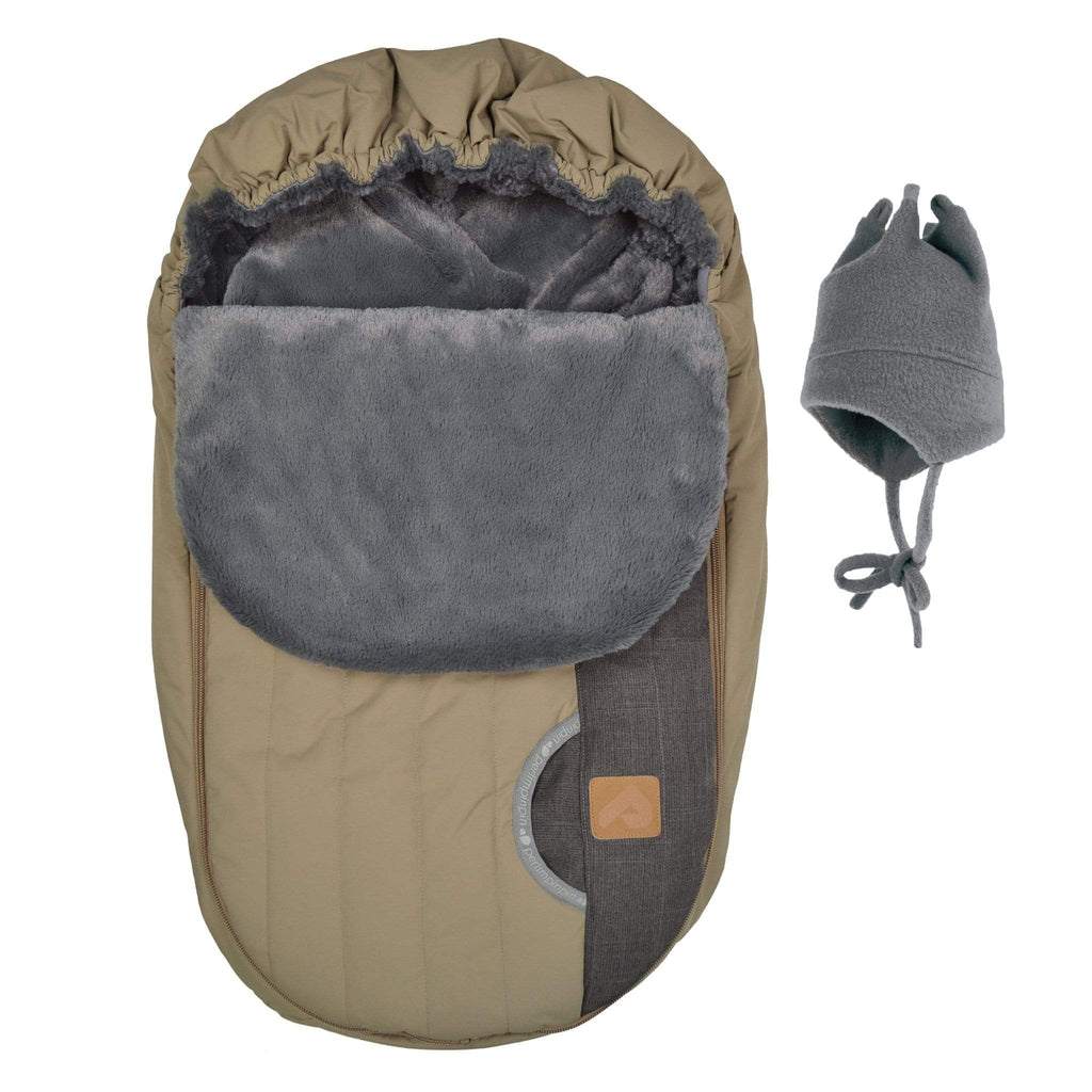Baby car seat cover for Winter - Cassonade coal