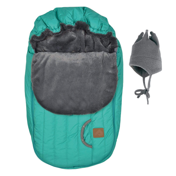 Baby car seat cover for Winter - Aqua