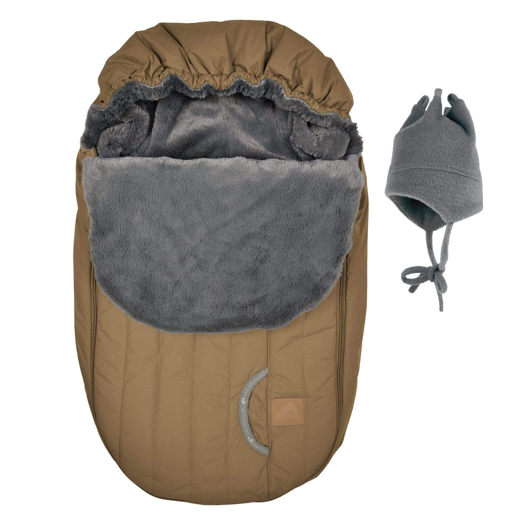 Baby car seat cover for Winter - Camel