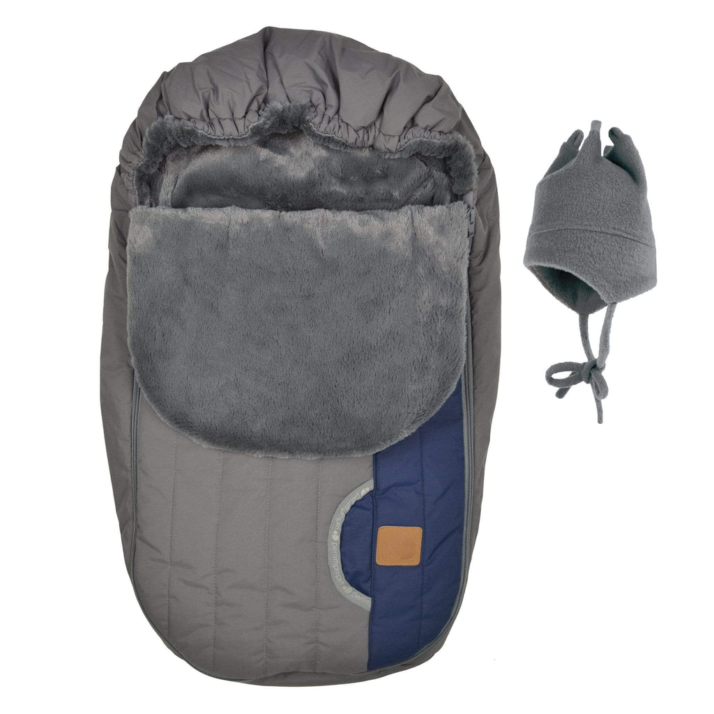 Baby car seat cover for Winter - Charcoal new marine
