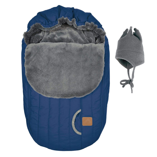 Baby car seat cover for Winter - Cobalt