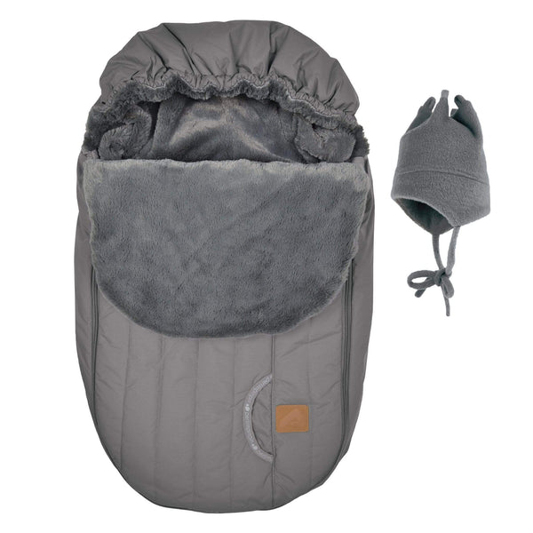 Baby car seat cover for Winter - Gray