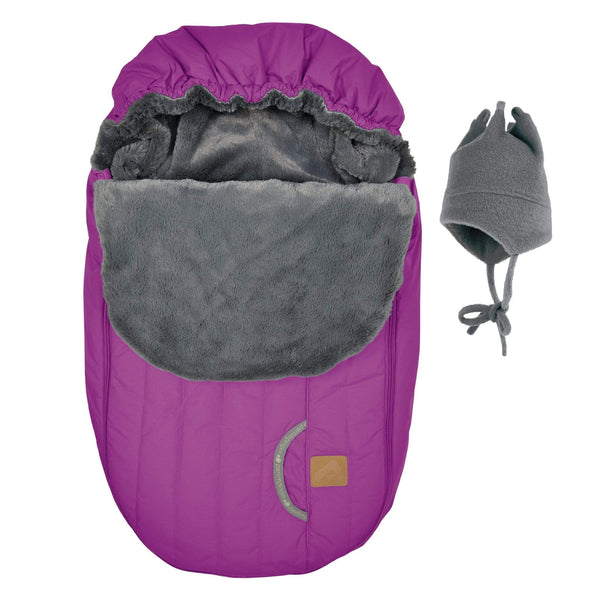 Baby car seat cover for Winter - Light berry