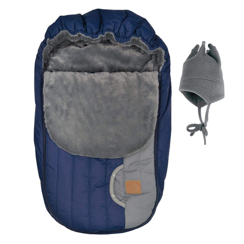 Baby car seat cover for Winter - New marine gray