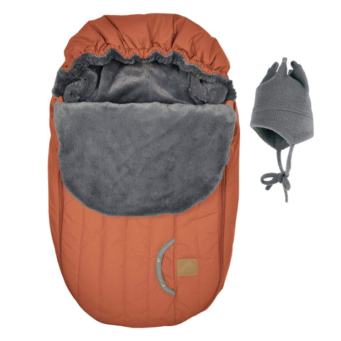 Baby car seat cover for Winter - Burn orange