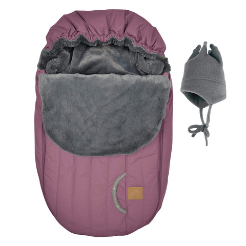 Baby car seat cover for Winter - Prunette