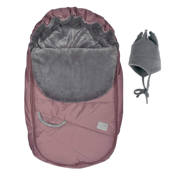Baby car seat cover for Winter - plum